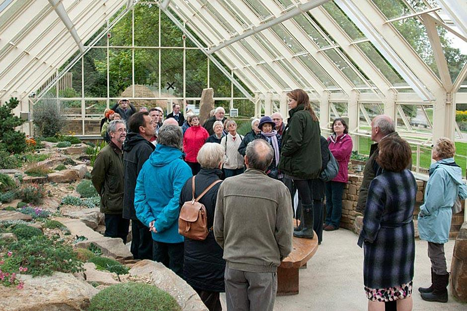 A talk in the Alpine House