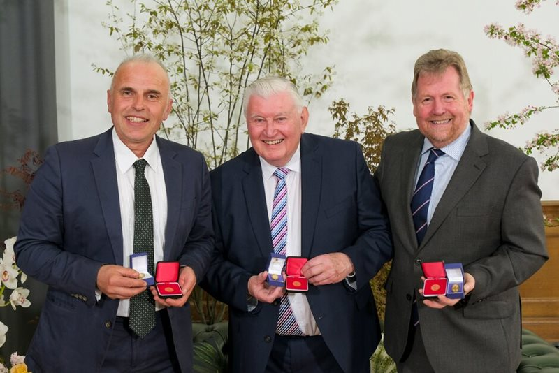 Pictured – Fergus Garrett, Bill Simpson & Tony Kirkham
