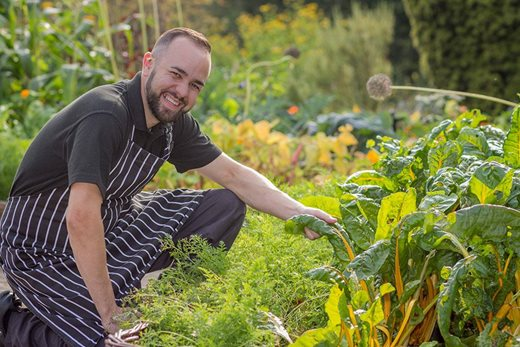 Head Chef Greg at RHS Garden Rosemoor